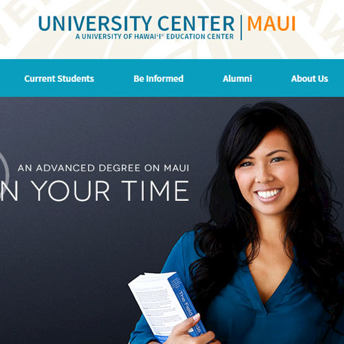 UH Center Maui, Web Design
