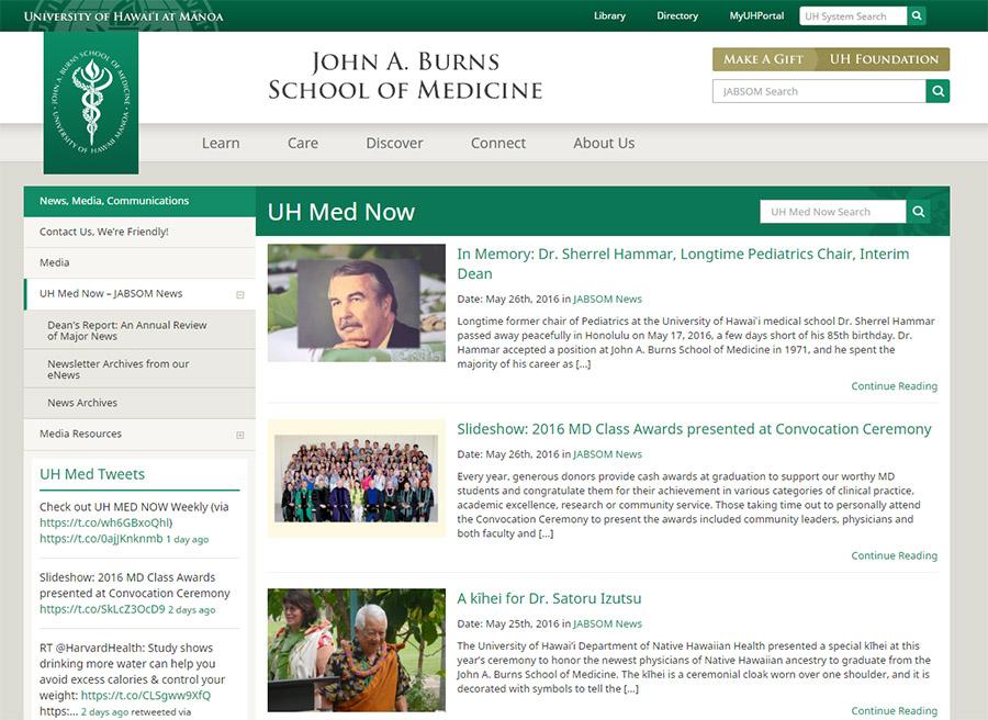 UH JABSOM Web Design Blog