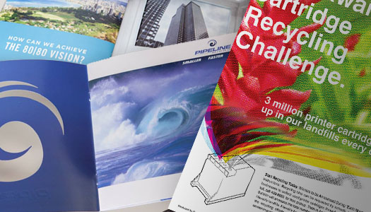 Print Collateral and Promotional Materials Samples