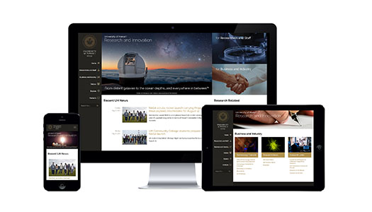 Web Design Sample for UH Research